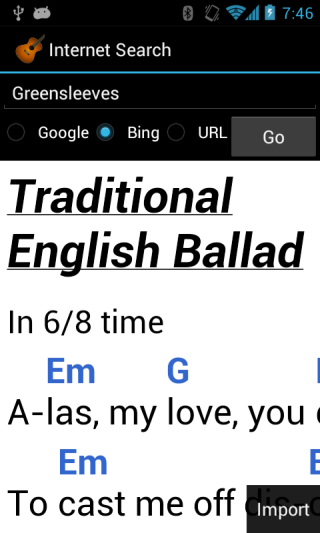 Linkesoft Songbook Your Lyrics And Chords On Android Smartphones And