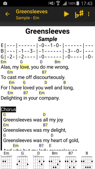 LinkeSOFT SongBook Your lyrics and chords on Android smartphones and ...